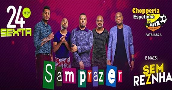 Show de pagode com o Grupo Samprazer e Sem Reznha no Bar Espetinho do Juiz Patriarca Eventos BaresSP 570x300 imagem