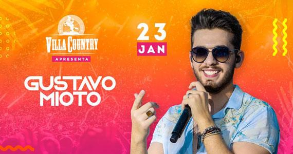 Gustavo Mioto retorna ao palco do Villa Country com show único Eventos BaresSP 570x300 imagem