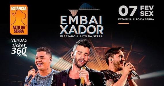 Gusttavo Lima, Felipe Araújo e Wallas Arrais juntos na Estância Eventos BaresSP 570x300 imagem