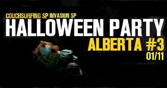 Festa Halloween ao som de indie rock, 80's, 90's, pop e soul music no Alberta#3 Eventos BaresSP 570x300 imagem