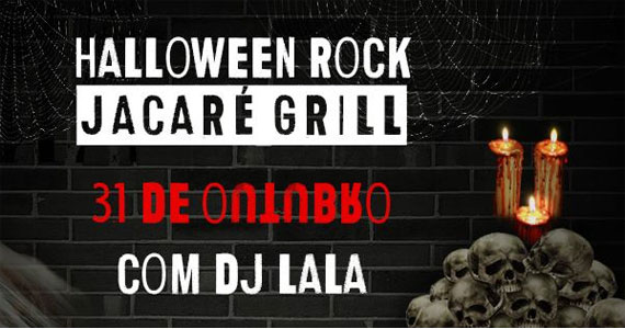 Setlist de arrepiar com Dj Lala animando a Festa de Halloween no Jacaré Grill Eventos BaresSP 570x300 imagem