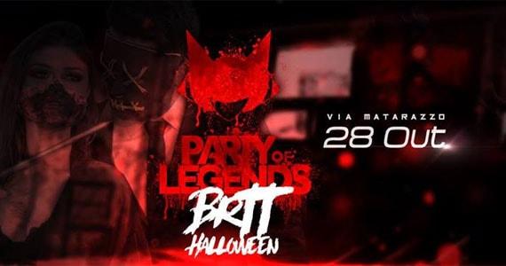 Sábado tem Festa de Halloween BRTT 2# com noite especial no Via Matarazzo  Eventos BaresSP 570x300 imagem