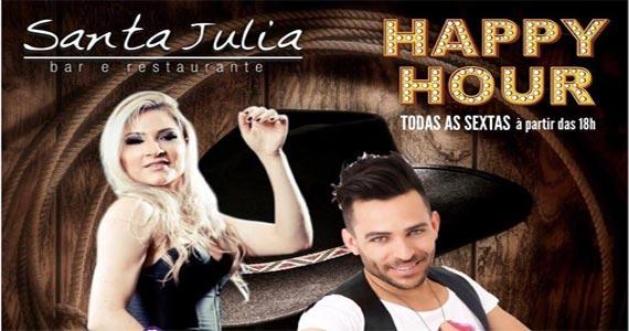 Sexta-feira tem happy hour com Lucylla e Rodrigo Reis no Bar Santa Julia Eventos BaresSP 570x300 imagem