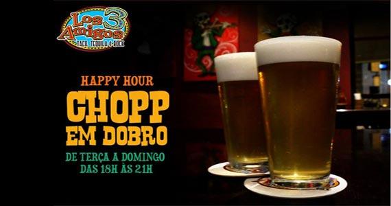 Los 3 Amigos oferece Happy Hour de terça a domingo com chopp em dobro  Eventos BaresSP 570x300 imagem