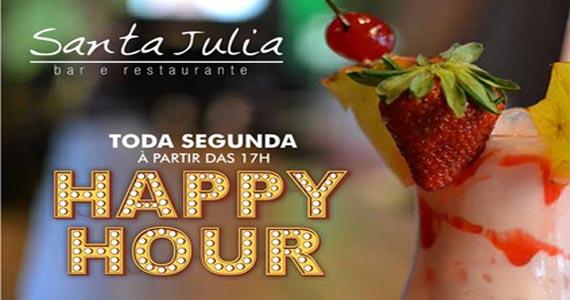 Toda segunda tem happy hour com petisco, chopp e música ambiente no Bar Santa Julia Eventos BaresSP 570x300 imagem