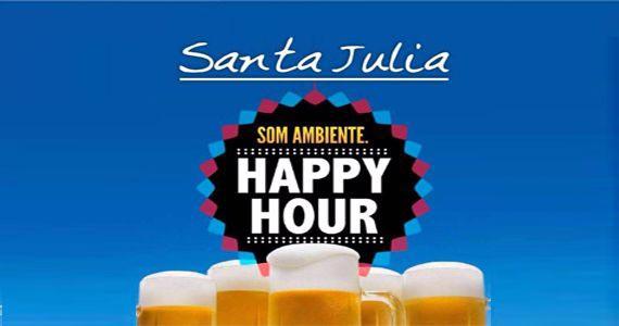 Eventos AgendaHappy Hour com petisco, chopp e música ambiente no Bar Santa Julia BaresSP