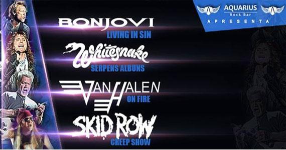 Hard Rock com as bandas Living in Sin, Serpens Albuns, On Fire e Creep Show no Aquarius Rock Ba Eventos BaresSP 570x300 imagem