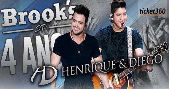 Quinta-feira é dia de curtir o show da dupla sertaneja Henrique e Diego na Brooks Eventos BaresSP 570x300 imagem