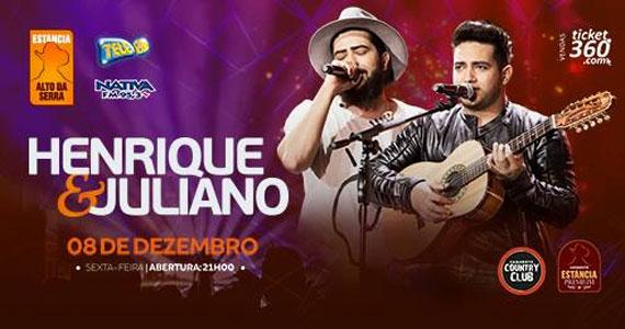 Henrique & Juliano cantam na noite do dia 08 de dezembro no Estância Alto da Serra Eventos BaresSP 570x300 imagem