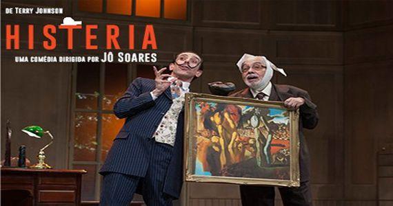 A peça Histeria dirigida por Jô Soares está de volta em cartaz no Teatro Shopping Frei Caneca Eventos BaresSP 570x300 imagem