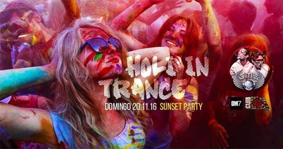 Holi In Trance - Sunset Party com o line up de G.M.S agitando a tarde do Club A Eventos BaresSP 570x300 imagem