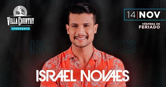 O cantor sertanejo Israel Novaes traz o seu novo DVD ao Villa Country Eventos BaresSP 570x300 imagem