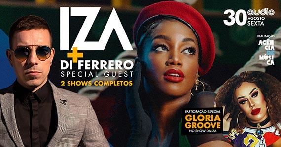 Iza e Di Ferrero realizam show com participação de Gloria Groove Eventos BaresSP 570x300 imagem