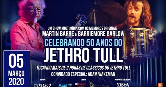 Martin Barre e Barriemore Barlow celebram 50 anos do Jethro Tull Eventos BaresSP 570x300 imagem