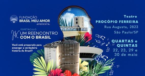 Espetáculo JK Um Reencontro com o Brasil no Teatro Procópio Ferreira  Eventos BaresSP 570x300 imagem