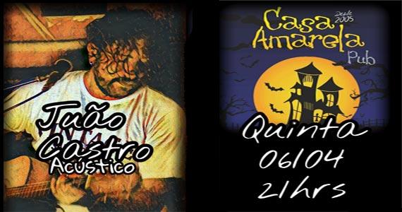 Casa Amarela Pub recebe na noite de quinta-feira o show do cantor João Castro Eventos BaresSP 570x300 imagem