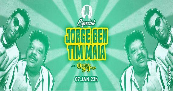 Tributo especial Tim Maia & Jorge Ben no palco do Jai Club com o Quarteto São Jorge Eventos BaresSP 570x300 imagem