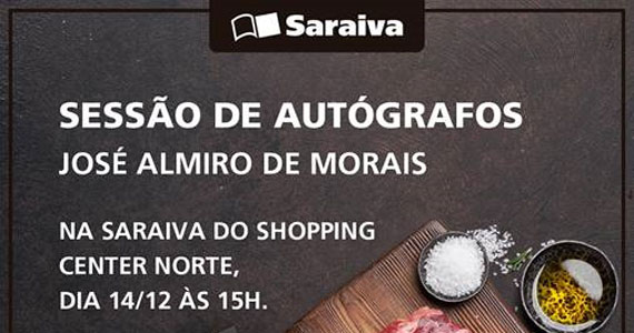 José Almiro realiza tarde autógrafos no Shopping Center Norte