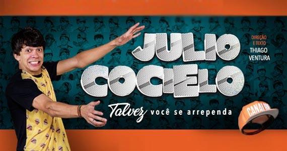 Um dos gigantes do Youtube, Júlio Cocielo traz formato da internet ao palco do Teatro Shopping Frei Caneca Eventos BaresSP 570x300 imagem