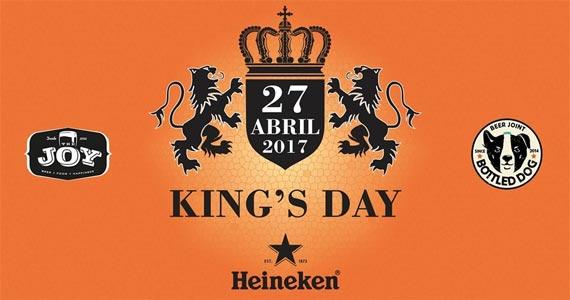 Bottled Dog comemora o King s Day e presenteia quem estiver de laranja com uma Heineken  Eventos BaresSP 570x300 imagem