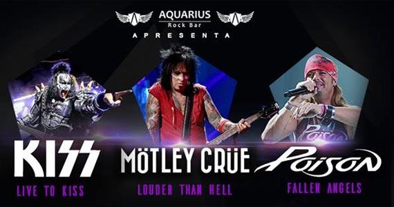 O som do Kiss, Mötley Crüe e Poison embalam a noite no Aquarius Rock Bar Eventos BaresSP 570x300 imagem