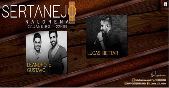 Sexta vai ter o som da dupla Leandro & Gustavo e do cantor Lucas Bettar no NaLorena Eventos BaresSP 570x300 imagem