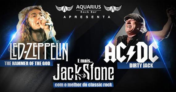A bandas Hammer of the God, Dirty Jack e Jack Stone tocam os clássicos do rock no Aquarius Rock Bar Eventos BaresSP 570x300 imagem