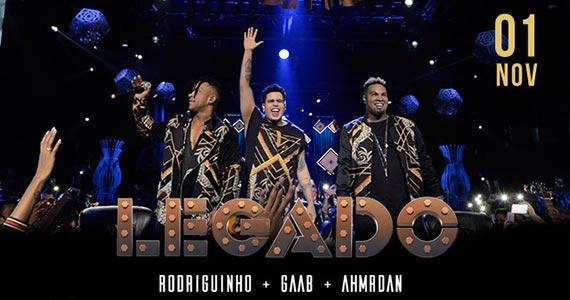 Legado reúne Gaab, Rodriguinho e Ah!Mr.Dan no Espaço das Américas Eventos BaresSP 570x300 imagem