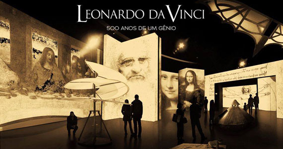 Leonardo da Vinci: 500 anos de um gênio no MIS Experience Eventos BaresSP 570x300 imagem