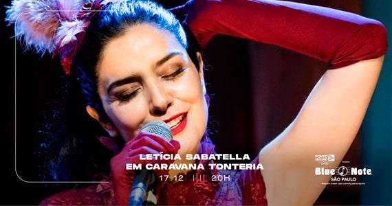 Letícia Sabatella em Caravana Tonteria no Blue Note São Paulo Eventos BaresSP 570x300 imagem