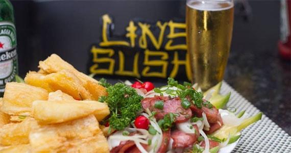 Lins Sushi oferece almoço e happy hour com variedades no cardápio durante a semana Eventos BaresSP 570x300 imagem