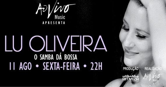 Show intimista com Lu Oliveira trazendo clássicos da bossa nova para o Ao Vivo Music Eventos BaresSP 570x300 imagem