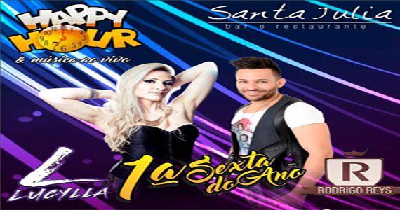 Eventos AgendaSexta é dia de curtir happy hour com os cantores Lucylla e Rodrigo Reis no Bar Santa Julia BaresSP