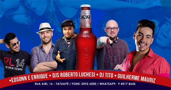Feriado com sertanejo ao vivo e um line up eletrônico de arrepiar com Dj Tito e Roberto Luchesi no Maavah Bar Eventos BaresSP 570x300 imagem