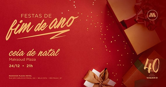 Ceia de natal no Maksoud Plaza
