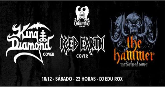 Ice Hearth Cover, Motorhead Cover e King Diamon Cover no Manifesto Bar Eventos BaresSP 570x300 imagem