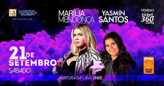 Marília Mendonça e Yasmin Santos realizam show na Estância Eventos BaresSP 570x300 imagem