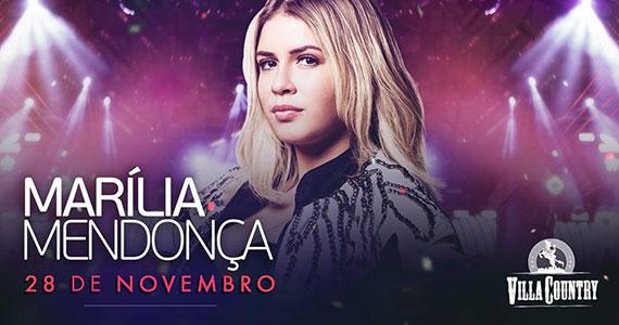 Marília Mendonça retorna ao Villa Country com nova turnê Eventos BaresSP 570x300 imagem