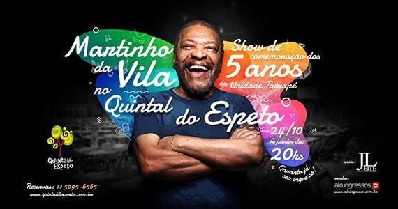 Martinho da Vila se apresenta no Quintal do Espeto - Tatuapé Eventos BaresSP 570x300 imagem