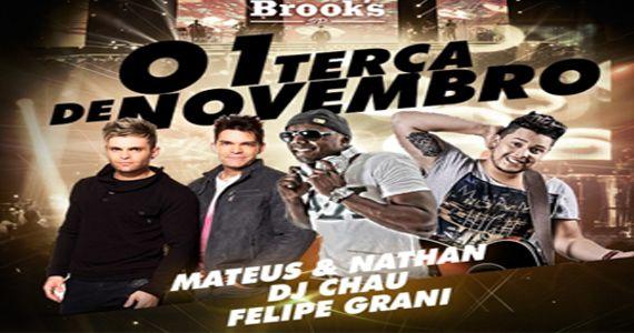 A dupla Mateus & Nathan e os Djs Chau e Felipe Grani agitam a noite da Brooks Eventos BaresSP 570x300 imagem