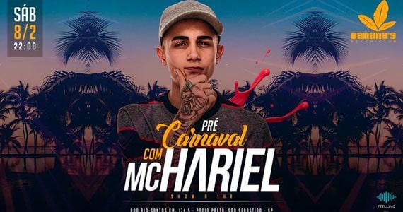 MC Hariel comanda o Pré Carnaval do Banana's Beach Club Eventos BaresSP 570x300 imagem