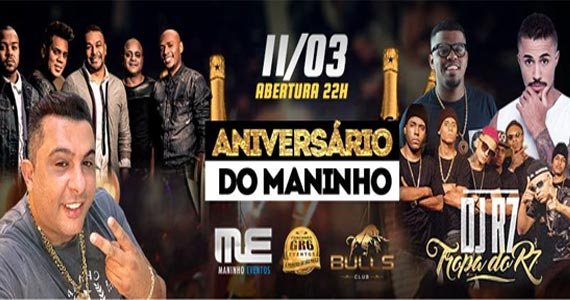 Muito funk e pagode com Mc Livinho, Tropa R7, Samprazer e Mc Jhojhow no Bulls Club Eventos BaresSP 570x300 imagem