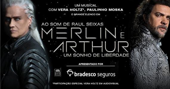 Ao som de Raul Seixas Merlim e Arthur, um Sonho de Liberdade no Teatro Frei Caneca Eventos BaresSP 570x300 imagem