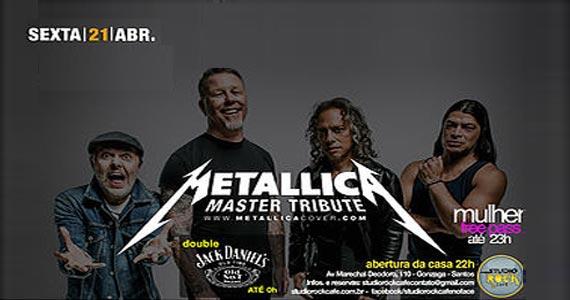 Os sucessos do Metallica com a banda Master Tribute no Studio Rock Café Eventos BaresSP 570x300 imagem