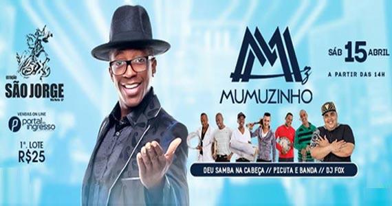 Sábado tem o show do cantor Mumuzinho soltando a voz na Estação São Jorge Eventos BaresSP 570x300 imagem