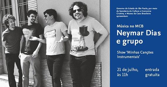 Música no MCB com Neymar Dias e grupo Eventos BaresSP 570x300 imagem