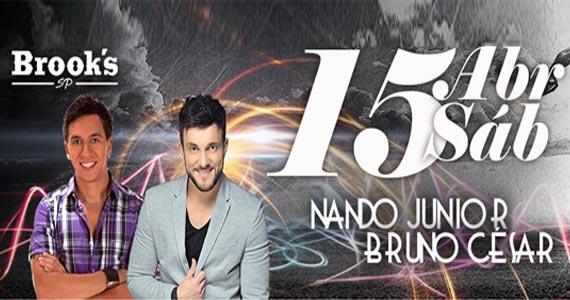 Sábado têm o som do cantor Nando Junior e Bruno César na Brooks Eventos BaresSP 570x300 imagem