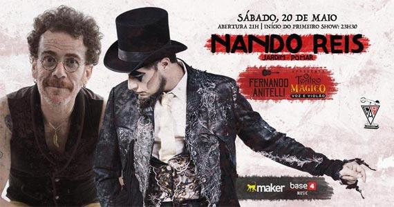 Nando Reis e Fernando Anitelli apresentam O Teatro Mágico (Voz e Violão) no palco do Clube Atlético Aramaçan BaresSP 570x300 imagem