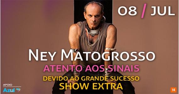O cantor Ney Matogrosso volta ao Espaço das Américas para apresentar a turnê Atento Aos Sinais Eventos BaresSP 570x300 imagem
