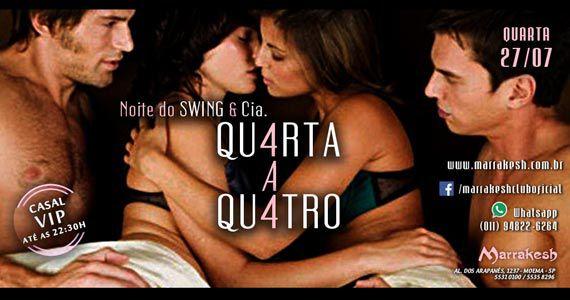 Quarta-feira animada com Noite do Swing e Cia Quarta a Qu4tro no Marrakesh Club